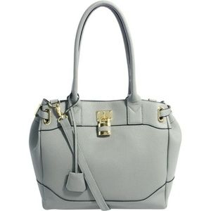 ASOS Bag With Side Straps And Metal Keepers - Gray